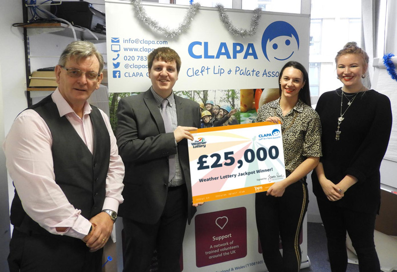 Supporter of CLAPA wins the £25,000 Weather Lottery Jackpot